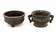 A bronze archaistic ritual food vessel, gui , 17th century