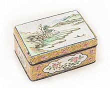 A Canton enamel box and cover, Qianlong mark and possibly of the period