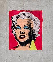 Richard Pettibone (b.1938) - Marilyn on pink Background