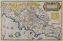 Italy-. Ortelius (Abraham) - Thusciae descriptis auctore Hieronymo Bellarmato,