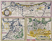 Ortelius (Abraham) - A group of 6 maps of central and northern Europe,