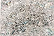 Switzerland.- - A small, mixed, group of maps and plans,