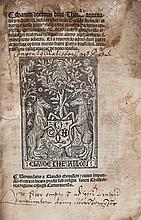 Aquinas -  [Summa Theologica: Part 2] Liber no[m]i[n]e Secu[n]da secunde