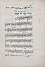 Tacitus (Publius Cornelius) - Libri quinque noviter inventi atque cum reliquis eius operibus editi.