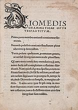 Diomedes, - Grammaticus. Grammaticae Opus Tripartitum , decorative initials