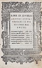 Dante Alighieri (et al). - Rime di Diversi Antichi Autori Toscani,