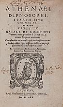Food & Drink.- Athenaeus. - Athenaei Dipnosophistarum Sive Coenae Sapientum libri XV,