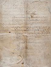 Louis XV -  Letters Patent, relating to Paul Le Cour of Lyon and his...