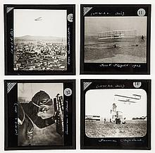 Early Aviation.- - A collection of magic lantern slides on the history of flight,