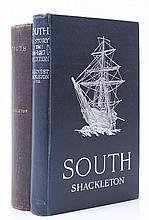 Shackleton -  South, reprint, plates, folding map, original pictorial cloth