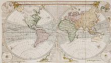 Sayer (Robert) - A New Map of the World in Two Hemispheres,
