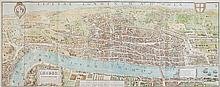 Weller (Edward) - London in the Reign of Queen Elizabeth, A Fac-simile (Reduced) of the Map by Aggas 1560,