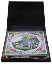 A Chinese Export black lacquer and gilt decorated box, Guangzhou