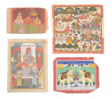Four Indian miniature paintings, Northern Indian, 18th/19th century