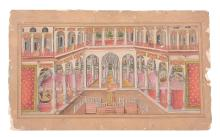 An Indian miniature depicting a scene from the Ramayana, Rajasthan