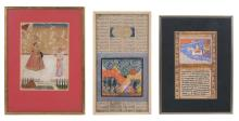 Two Indian miniature paintings, Northern India, 18th / 19th century