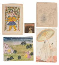 A miscellaneous group of eleven Indian paintings, mostly 19th century