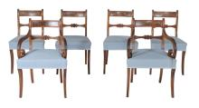 A set of six Regency mahogany dining chairs , circa 1815