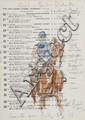 Peter Biegel (1913-1988) Horse studies on Epsom