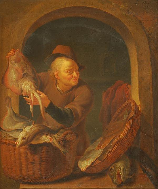 Louis de Moni (1698-1771) A fish seller at a