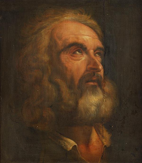 Follower of Pietro da Cortona Study of St. Peter