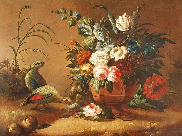 Dutch School (18th century) Still life with two