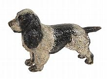 An Austrian cold painted bronze model of a spaniel, early 20th century