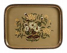 A Henry Loveridge & Co. Wolverhampton large papier mache tray, mid 19th century