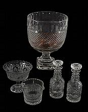 A selection of mostly cut glass, various dates 19th and 20th centuries