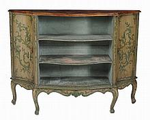 An Italian painted side cabinet/bookcase , second half 19th century