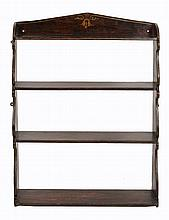 A set of simulated rosewood shelves in the Regency style, late 19th century