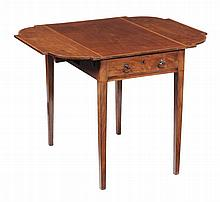 A George III mahogany and rosewood crossbanded pembroke table , circa 1800