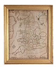 A large sampler map of the counties of England and wales, circa 1785