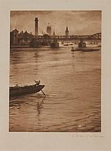 C.R.W. Nevinson (1889-1946) - A View of the Thames from Waterloo bridge