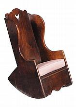 A mahogany child's rocking chair , first quater 19th century