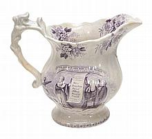 A Ridgway pottery commemorative jug for the Reform Act 1832, circa 1832