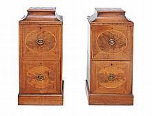 A pair of George III mahogany pedestals, circa 1800