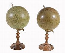 A pair of German table globes, Dietrich Reimers, Berlin, early 20th century