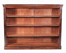 A Victorian mahogany open bookcase, circa 1860