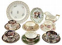 An assortment of English and Continental ceramics