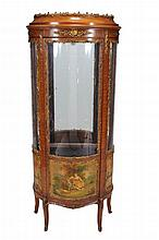 A mahogany, gilt-metal mounted and glazed vitrine cabinet in Louis XV taste