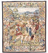 A woven tapestry in Continental 17th century style , 20th century