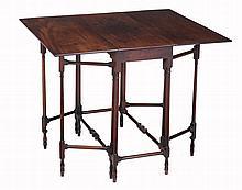 A George III mahogany spider leg table , circa 1780