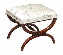 A Regency rosewood X-framed stool, circa 1815,