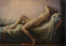 Follower of Lucien Lévy-Dhurmer (1865-1953) - A reclining nude