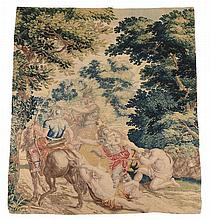A French Aubusson verdure tapestry panel , late 17th/early 18th century
