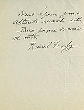"""Autograph Letter signed to """"Cher Ami"""", 1½pp"""