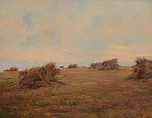 Frederick Hall (1865 - 1948) - Haystacks