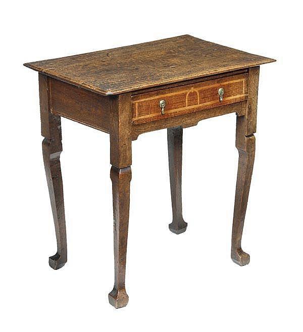 A Queen Anne oak side table, circa 1710,
