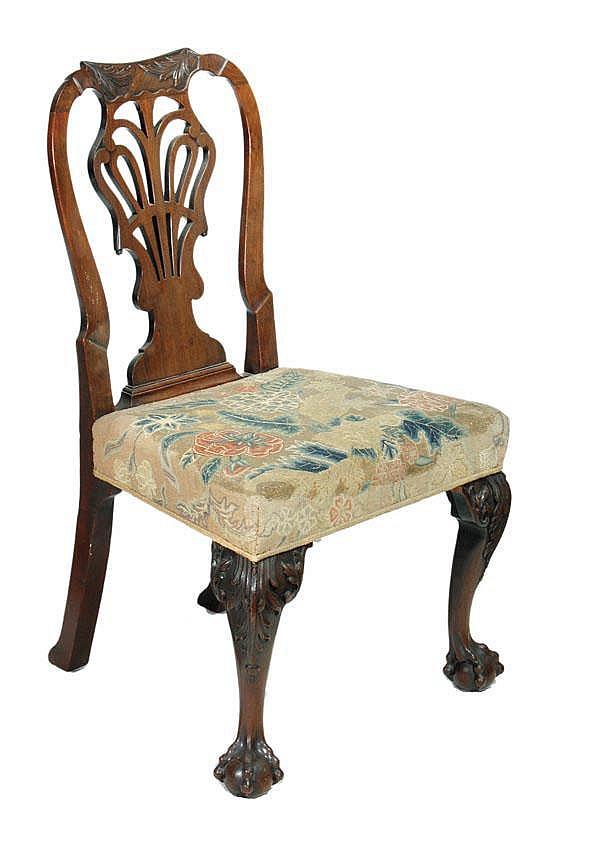 A George II mahogany armchair, circa 1740,